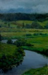 A River 30x50 cm, oil on canvas, 2012.