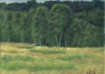 Trees. 24x30 cm, oil on canvas, 2010.