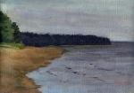 Sea coast. 24x30 cm, oil on canvas, 2010.