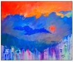 Sunset,  50x60 cm, oil on canvas, 2013