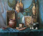 A Still Life With Fishes, 120x100 cm, oil on canvas, 2013.