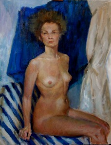 Nude, oil on canvas, 2012.