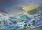 Sea Storm 24x30 cm, oil on canvas, 2013.