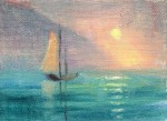 Sunrise 15x20 cm, oil on canvas, 2013.