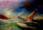 Waves. 60x80 cm, oil on canvas, 2013.