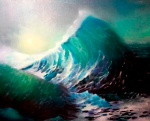 Blue wave 40x50 cm, oil on canvas, 2013. Price: $185