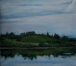 A Lake 35x40 cm, oil on canvas, 2012. Price: $500