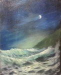 Sea 24x30 cm, oil on canvas, 2013,